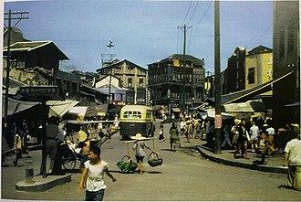Chongqing - A street scene in Chongqing, c. 1944