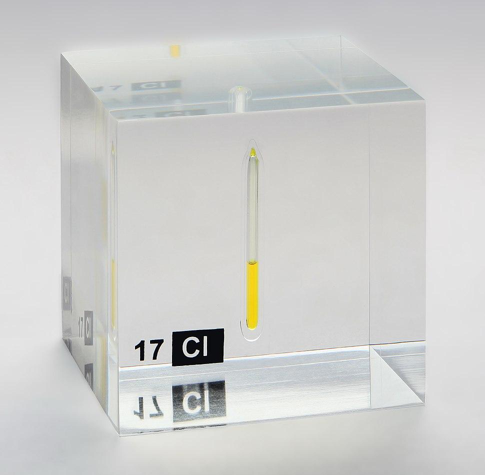 Chlorine liquid in an ampoule