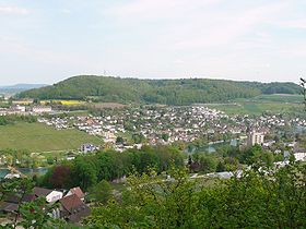 Vue du village de Flurlingen