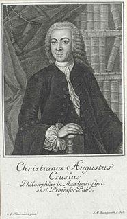 Christian August Crusius German philosopher