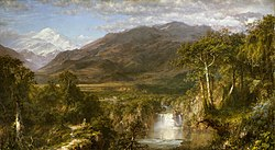 Frederic Edwin Church, The Heart of the Andes (1859). Church was part of the American Hudson River School.