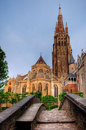 The Church of Our Lady in Bruges, Belgium. See...