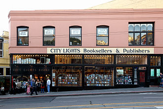 Independent bookstore - City Lights Bookstore in San Francisco, 2010
