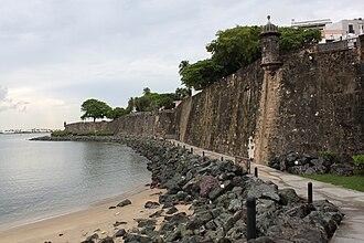 Old San Juan - Image: City Wall, San Juan, PR, U.S.A