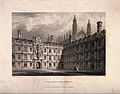 Clare College, Cambridge; east and south ranges. Line engrav Wellcome V0012318.jpg