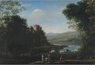 River Landscape with Herdsmen