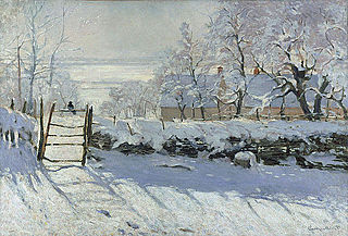 <i>The Magpie</i> (Monet) painting by Claude Monet