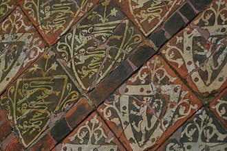 Encaustic tile - Medieval Tiles at Cleeve Abbey, England
