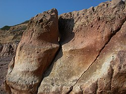 Cliff of Steigerberg (rock formation, erosion).jpg