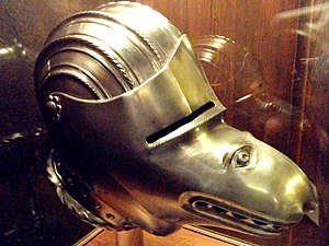 Close helmet - Close helmet with grotesque visor (modern reproduction of a German helmet of c. 1520 style)