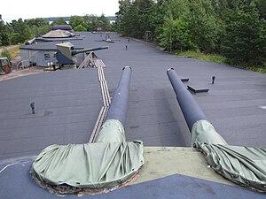 Kuivasaari - Old coastal artillery in Kuivasaari. Photo taken from roof of a 305mm twin turret.