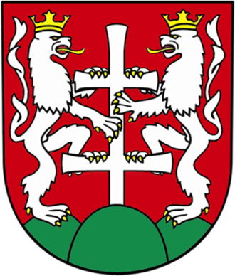 Patriarchal cross - Image: Coat of arms of Levoča