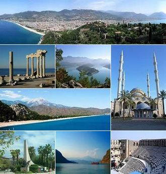 Antalya Province - A collage of Antalya province