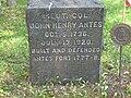 Colonel Antes Tombstone.JPG