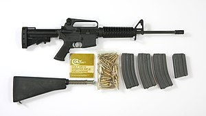 Colt AR-15 Sporter Lightweight rifle - set (8378298853).jpg