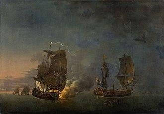 Action of 17 June 1778 - Combat de la Belle Poule et de l'Aréthusa by Auguste-Louis de Rossel de Cercy