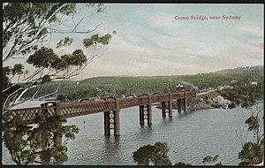Como railway bridge - Image: Como Bridge near Sydney, 1907 (8286902982)