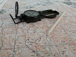Cardinal direction - A compass and map