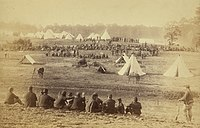 Confederate prisoners captured in the Battle of Front Royal being guarded in a Union camp in the Shenandoah Valley,jpg.jpg