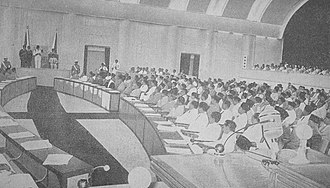 Constitutional Assembly of Indonesia - President Sukarno gives his inauguration speech on 10 November 1956