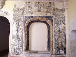 An old paint in Santiago Apostol Convent. It i...
