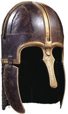 Colour photograph of the Coppergate helmet