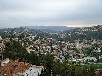 Corbera de Llobregat - View over Corbera de Llobregat, Barcelona from the Can Fisa hotel