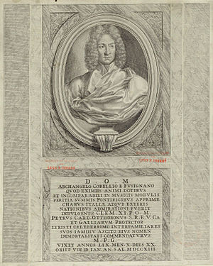 Portrait of Arcangelo Corelli from the title p...