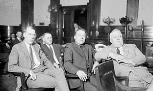 Cornelius Shea - Timothy D. Murphy, Fred Mader, John Miller, and Cornelius Shea, during their murder trial in Chicago, Illinois, in 1922. DN-0003451, Chicago Daily News negatives collection, Chicago Historical Society.