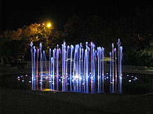 Cosmopolis Fountain at night.jpg