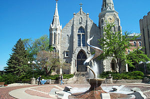 Creighton University - Image: Creighton Univ Church