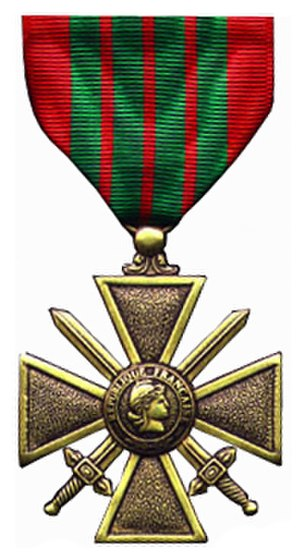 4th Foreign Regiment - Image: Croix de Guerre 39 45