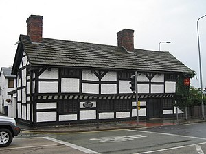Listed buildings in Warrington (unparished area) - Image: Cromwell's Cottage geograph.org.uk 522801