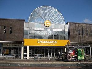 Cross Gates - Station Road entrance to the Crossgates Centre.