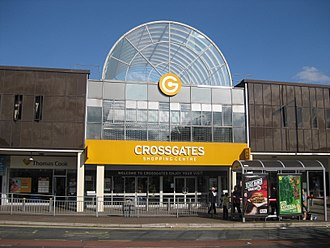 Cross Gates - Station Road entrance to the Crossgates Centre.