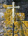 Cross with lichen at Hermitage St Helier Jersey.jpg