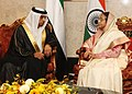 Crown Prince Sheikh Mohammed bin Zayed al Nahayan called on the President, Smt. Pratibha Devisingh Patil, in Abu Dhabi on November 23, 2010.jpg