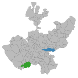 Location of the municipality in Jalisco