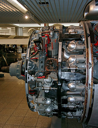 Lockheed L-1049 Super Constellation - The Wright R-3350 Turbo-compound engine used on later models of the L-1049