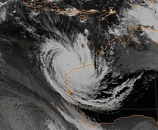 Cyclone Olivia à son maximum au large de l'Australie-Occidentale