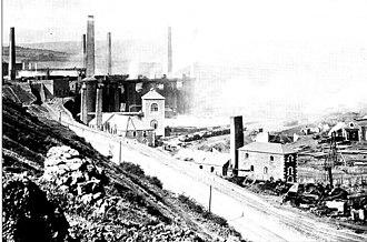 Cyfarthfa Ironworks - Cyfarthfa Ironworks in 1894