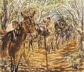 Cypriot Soldiers Grooming Mules Art.IWMARTLD4900.jpg