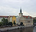 Czech-2013-Prague-View from Charles Bridge of Smetana Museum & Water Tower.jpg
