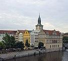Czech-2013-Prague-View from Charles Bridge of Smetana Museum & Water Tower.jpg