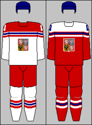 Czech Republic men's national ice hockey team - Image: Czech Republic national team jerseys 2015