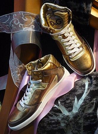 Dolce & Gabbana - Image: D&G Golden Sneakers