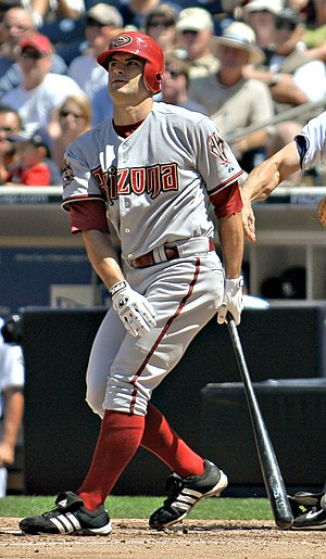 Chris Burke (baseball) - Burke with the Arizona Diamondbacks