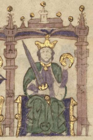 Afonso II of Portugal - Image: D. Afonso II Compendio de crónicas de reyes (Biblioteca Nacional de España)