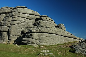 Cornubian batholith - Granite at Haytor on Dartmoor