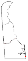 Location of South Bethany, Delaware